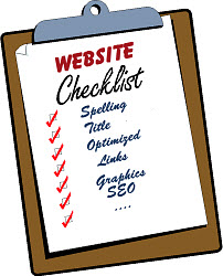 Checklist for real estate websites aand blogs